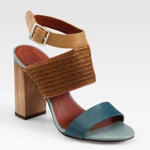 {Elizabeth & James} Clair Colorblock Sandal Size 8